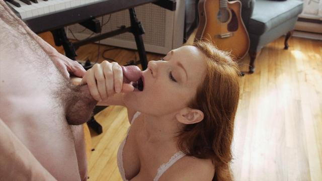 A sensual blowjob moment in time